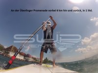 An der Ueberlinger Promenade SUP Stand up paddling Bodensee