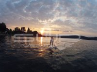 SUP Stand up paddling Bodensee Sonnen Untergang